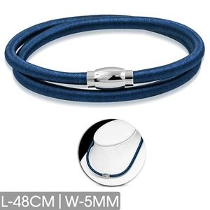 L-48cm W-5mm | Royal Blue Fabric Wrapped Rubber